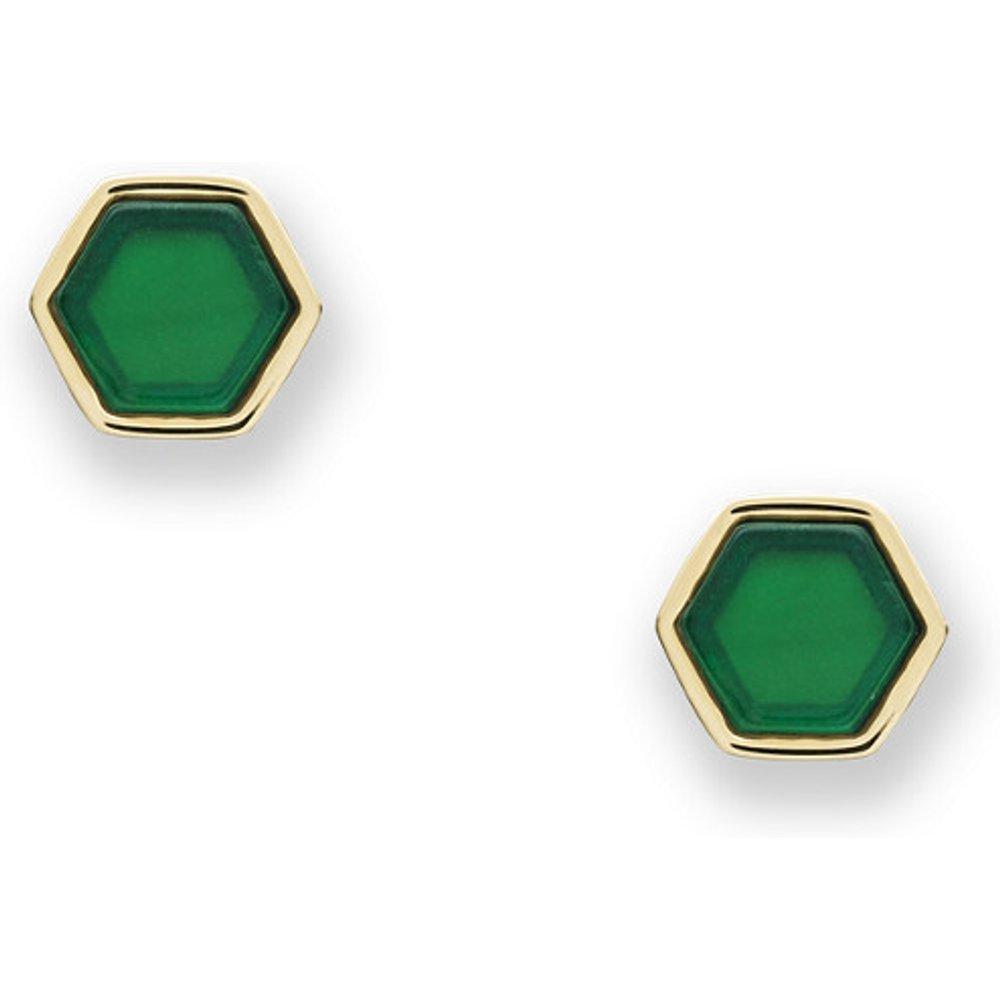 Unisex Clous D'Oreilles Hexagones En Acier Inoxydable Doré - One size - Fossil - Modalova