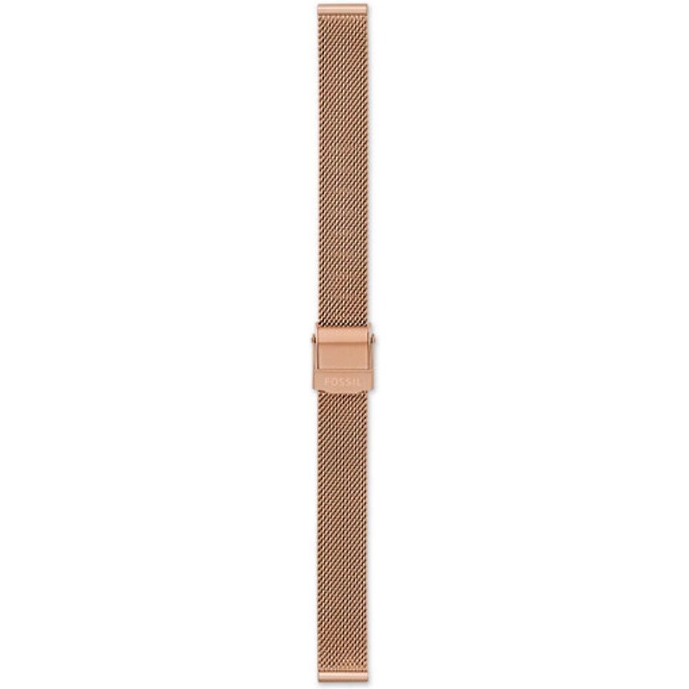 Women Bracelet En Maille Milanaise Inoxydable Doré Rose 12 Mm - One size - Fossil - Modalova