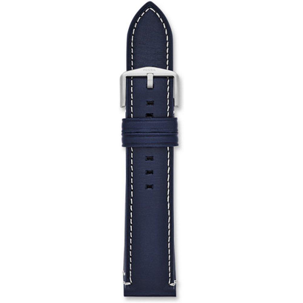 Men Bracelet De Montre Interchangeable En Cuir 22 Mm - One size - Fossil - Modalova