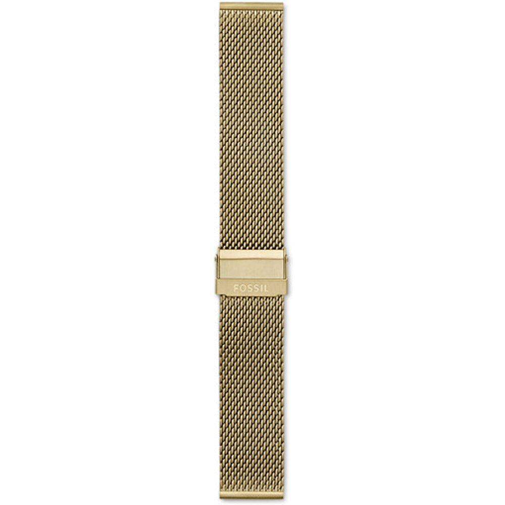 Women Bracelet En Maille Milanaise Inoxydable Dorée 22 Mm - One size - Fossil - Modalova