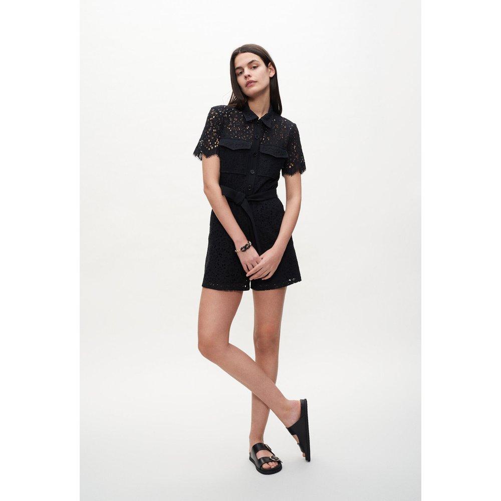 Combi-short en guipure noire - Claudie Pierlot - Modalova