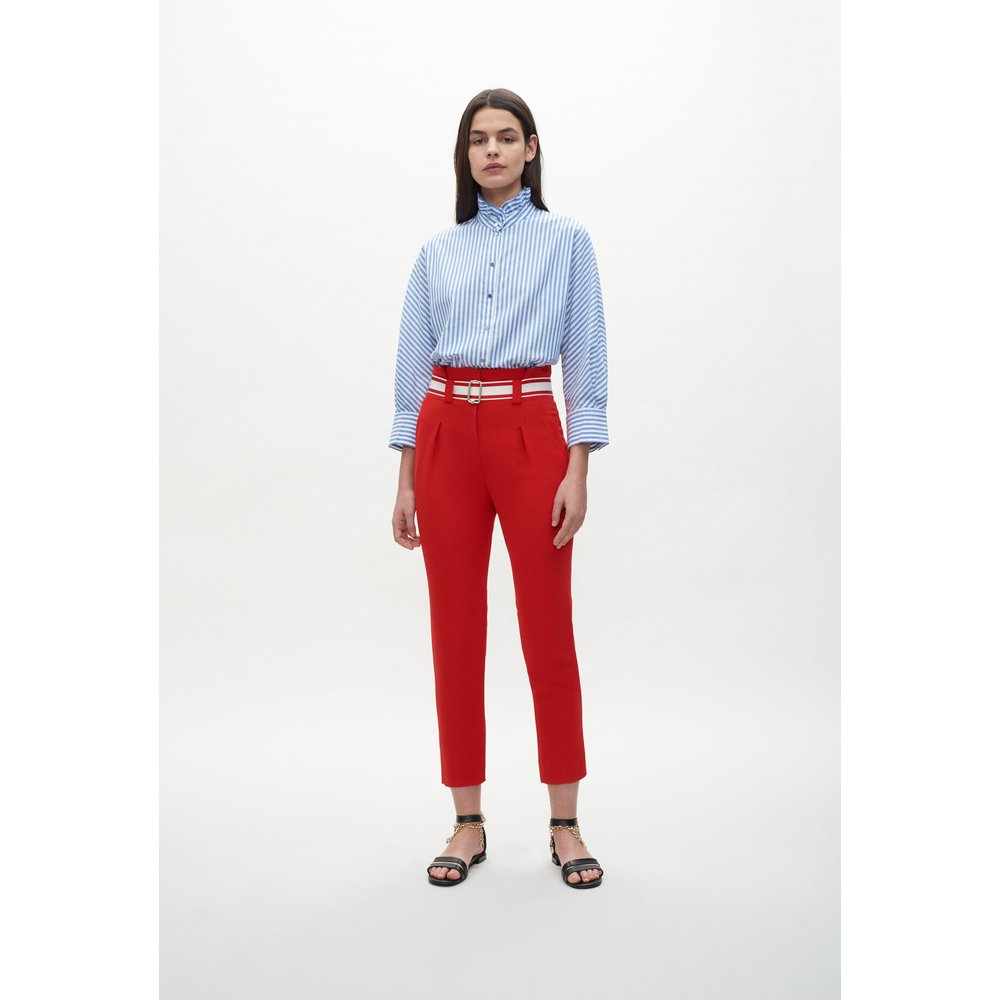 Pantalon de tailleur ceinturé - Claudie Pierlot - Modalova