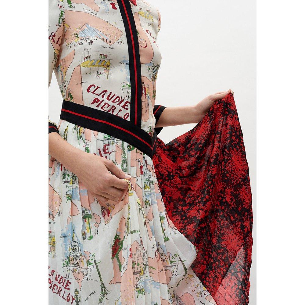 Robe mi-longue imprimée - Claudie Pierlot - Modalova