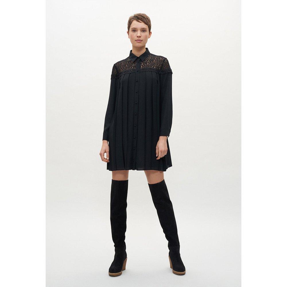Robe noire plissée - Claudie Pierlot - Modalova