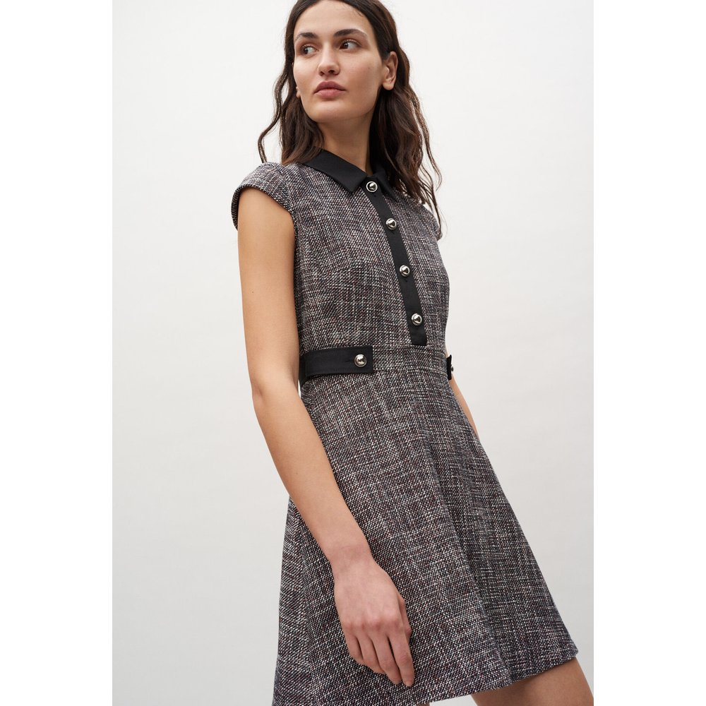 Robe courte à col chemise - Claudie Pierlot - Modalova