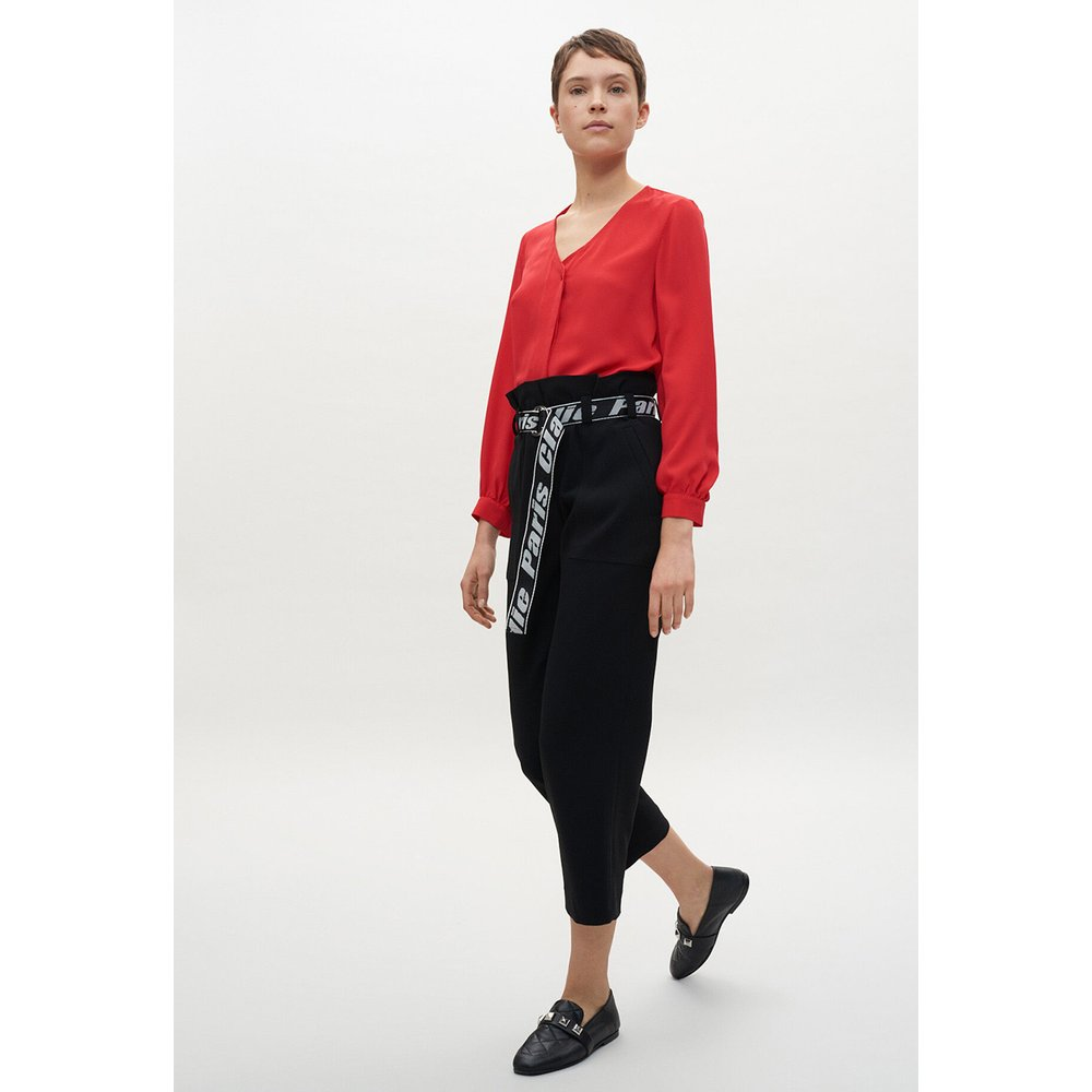 Blouse rouge tablier - Claudie Pierlot - Modalova
