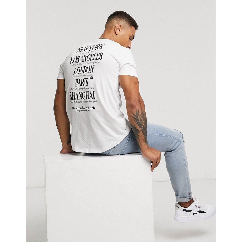 - T-shirt à ourlet arrondi et imprimé ville au dos - Abercrombie & Fitch - Modalova