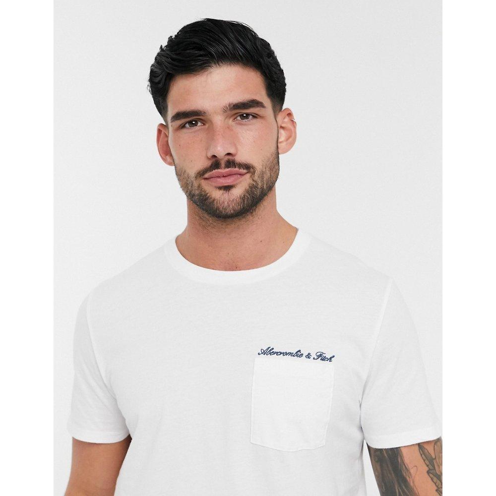 T-shirt délavé à inscription logobrodée - Abercrombie & Fitch - Modalova
