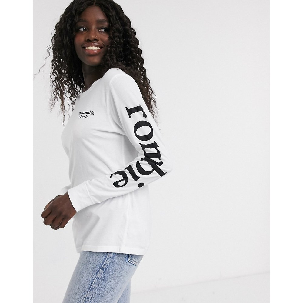T-shirt manches longues à logo - Abercrombie & Fitch - Modalova