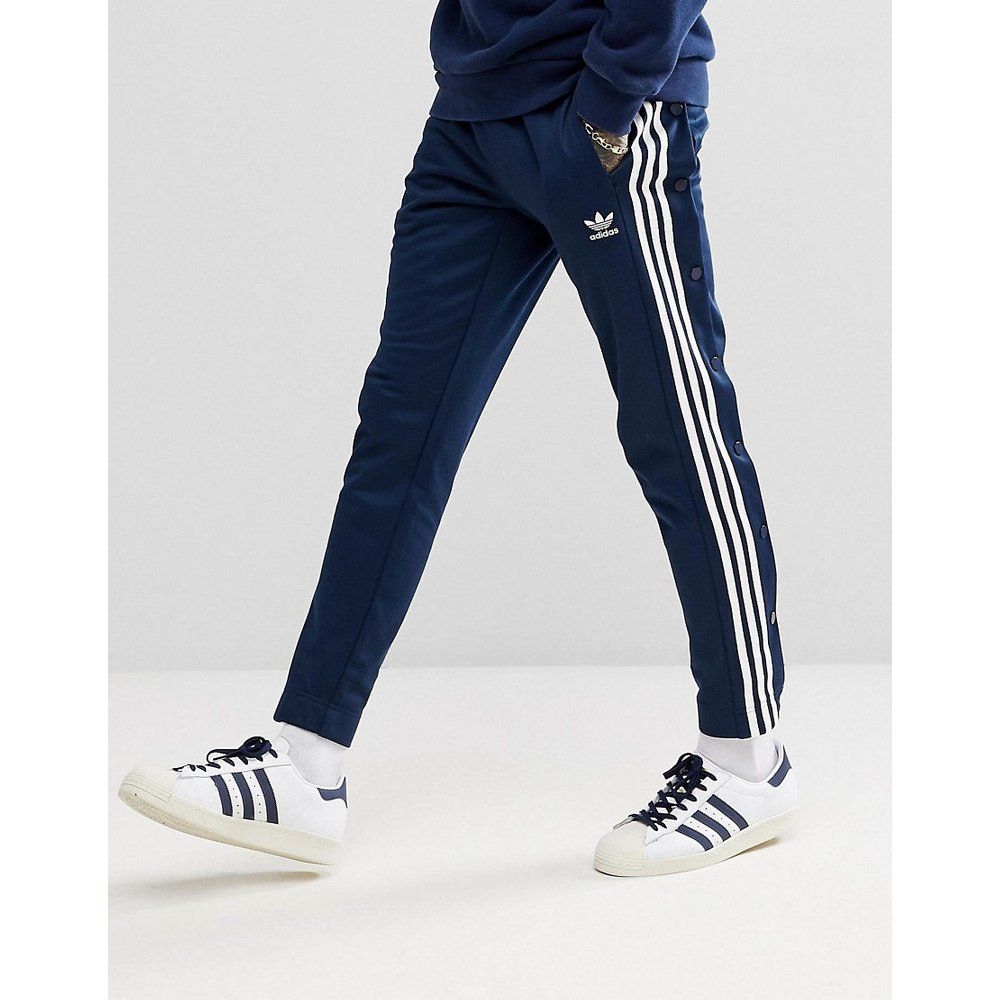 Adicolor - Pantalon de jogging à boutons-pression - Bleu marine CW1285 - adidas Originals - Modalova