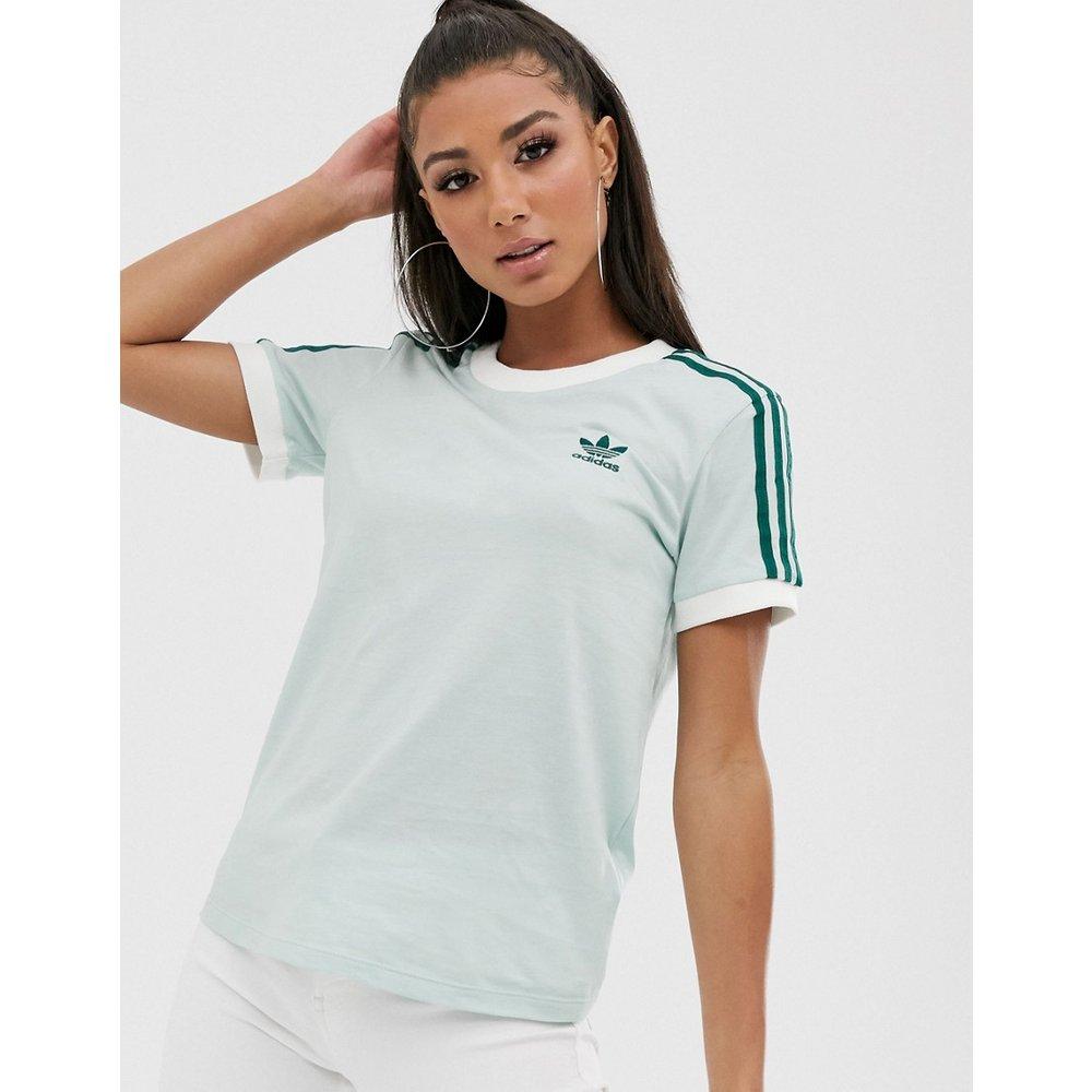Adicolor - T-shirt à trois bandes - menthe - adidas Originals - Modalova