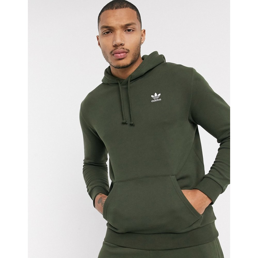 Essentials - Hoodie avec petit logo - Kaki - adidas Originals - Modalova