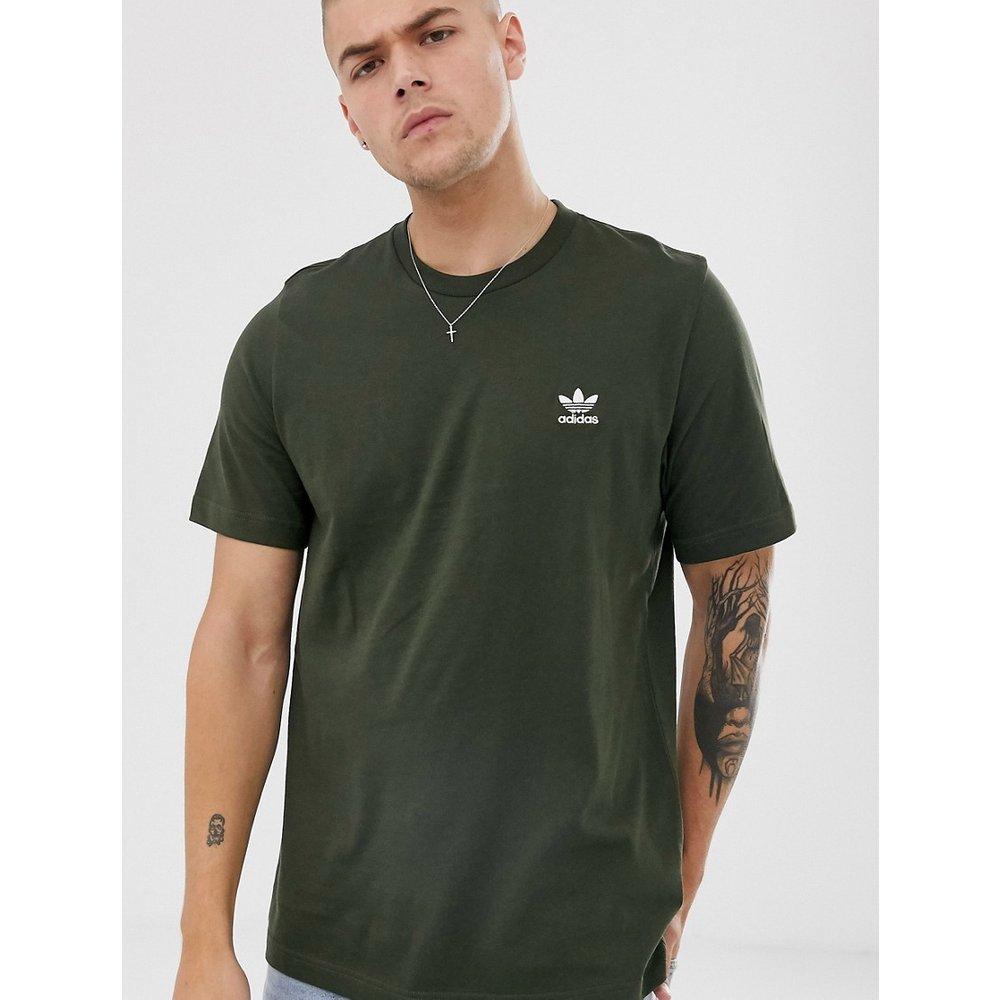 Essentials - T-shirt avec logo brodé - Kaki - adidas Originals - Modalova