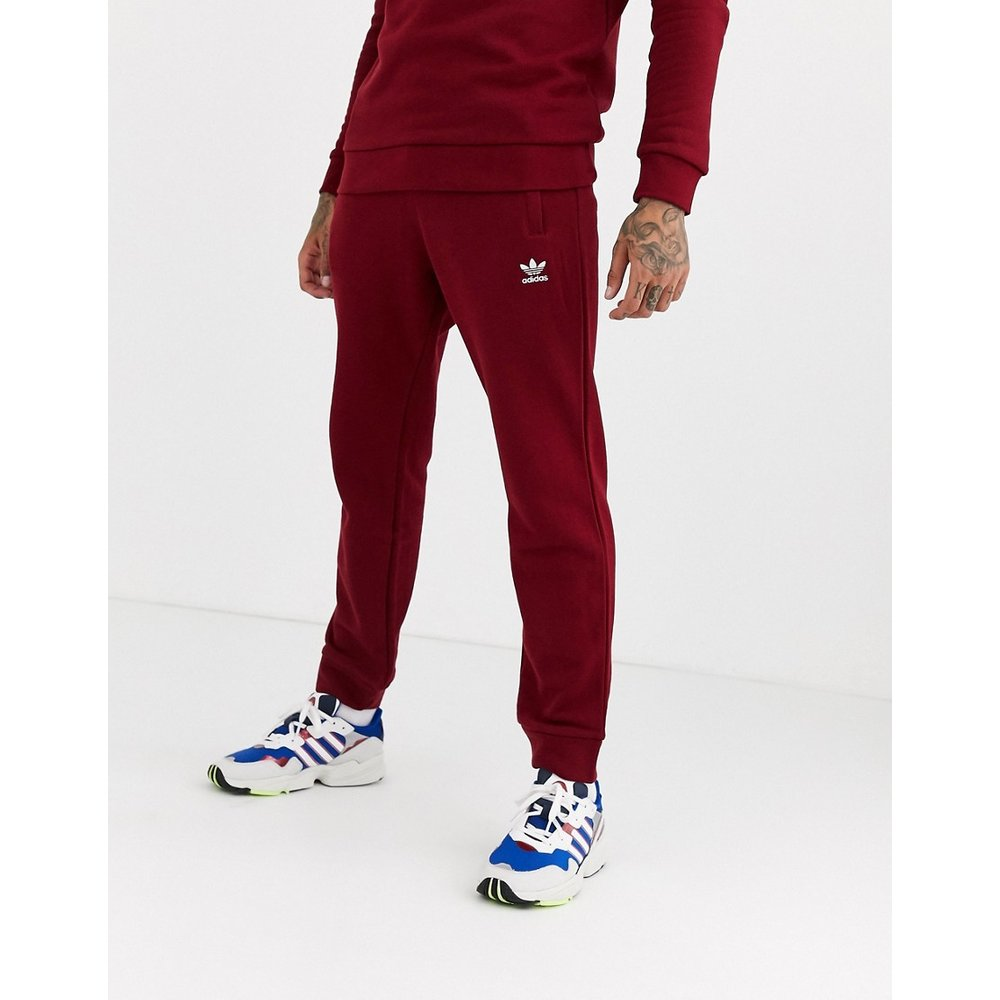 Pantalon de jogging avec broderie logo - Bordeaux - adidas Originals - Modalova