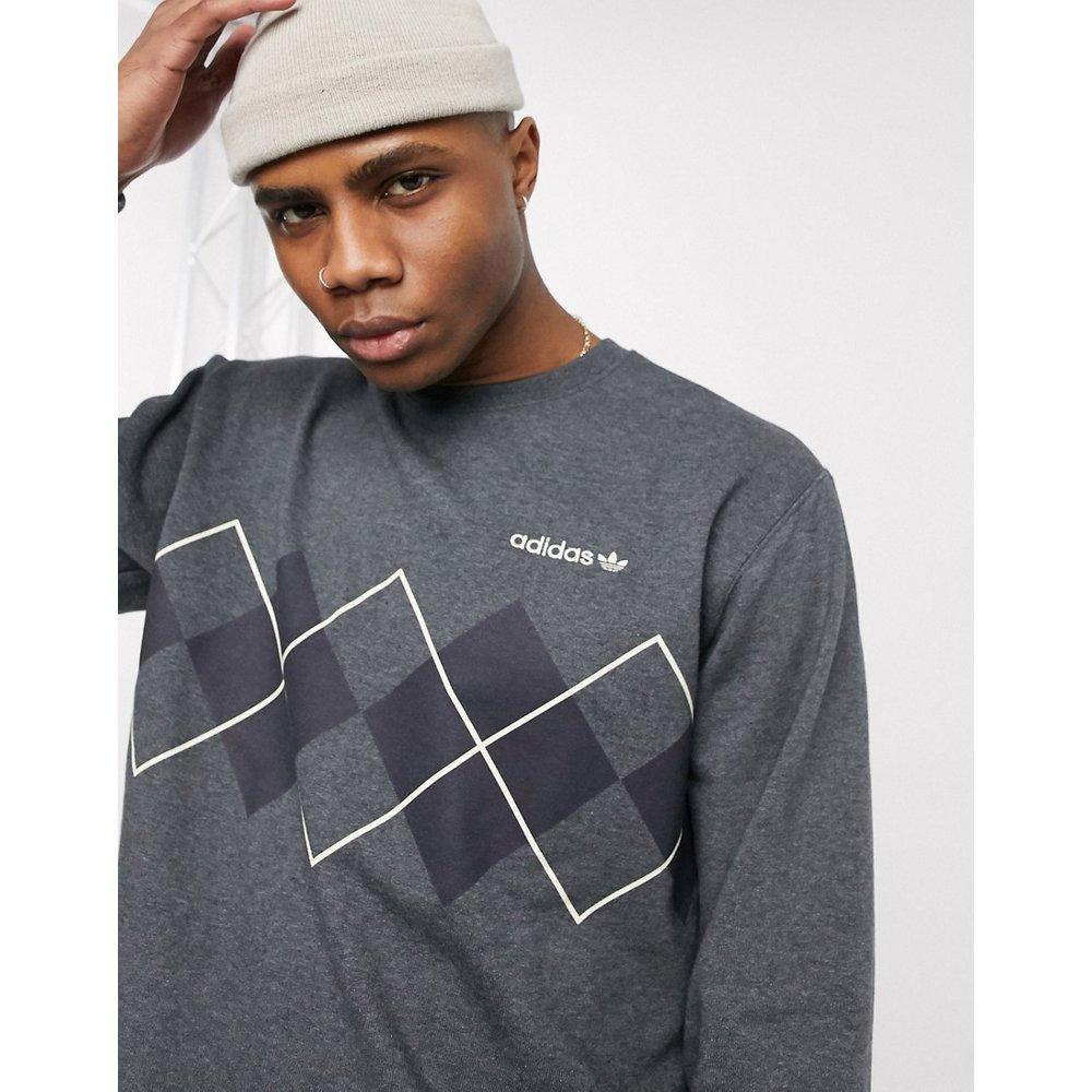 Sweat-shirt à imprimé losanges - adidas Originals - Modalova