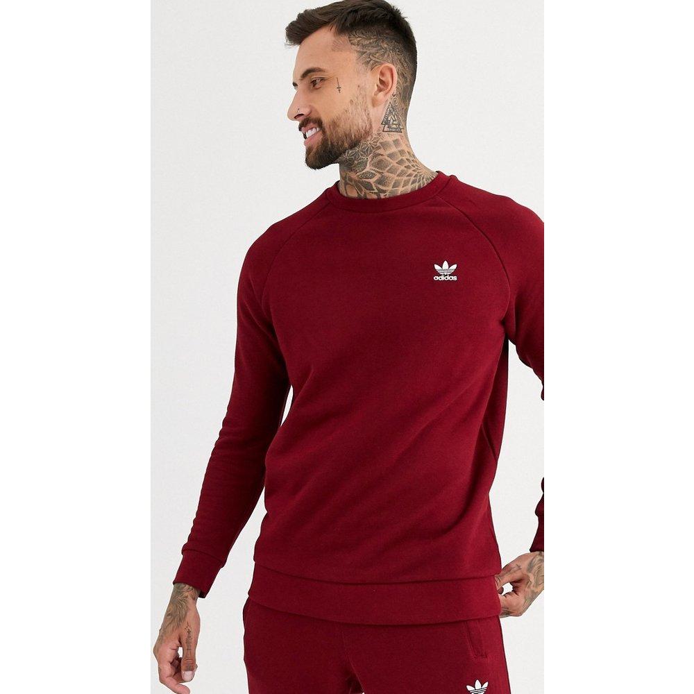 Sweat-shirt avec petit logo brodé - Bordeaux - adidas Originals - Modalova