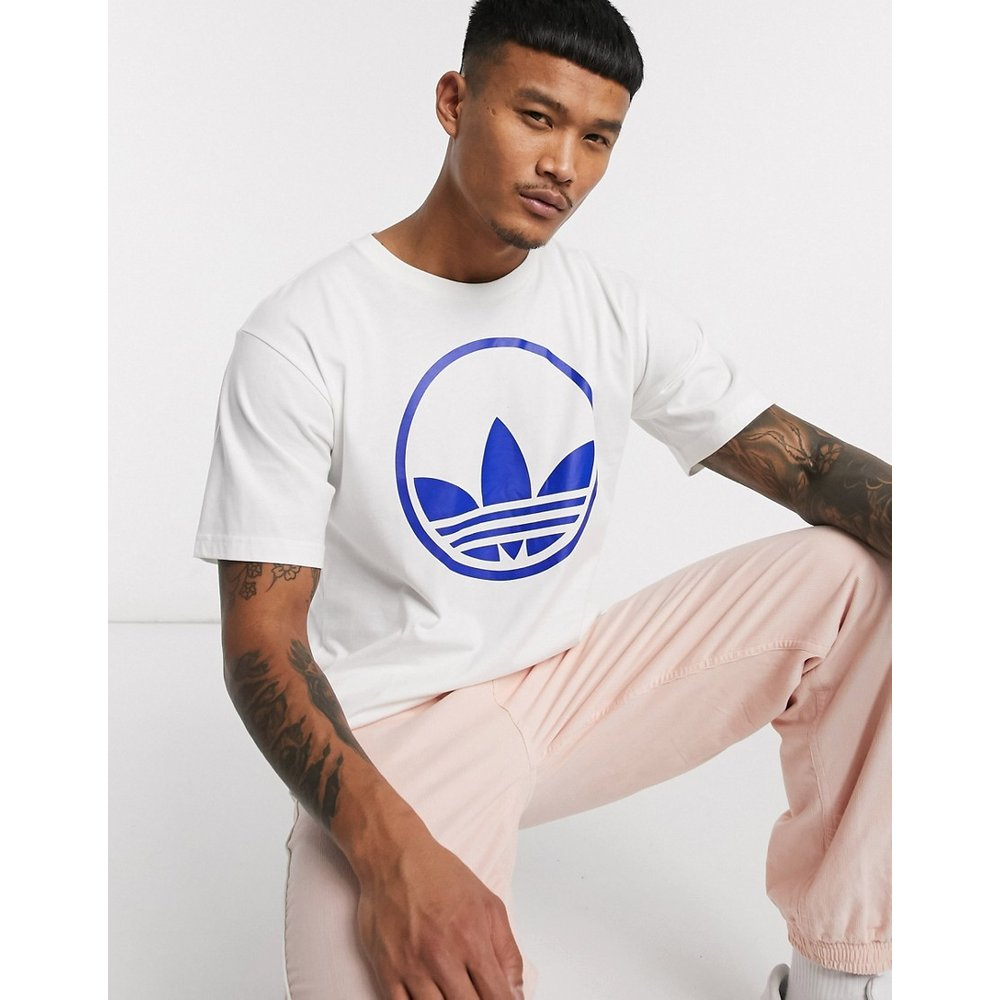 T-shirt avec cercle à imprimé trèfle - adidas Originals - Modalova