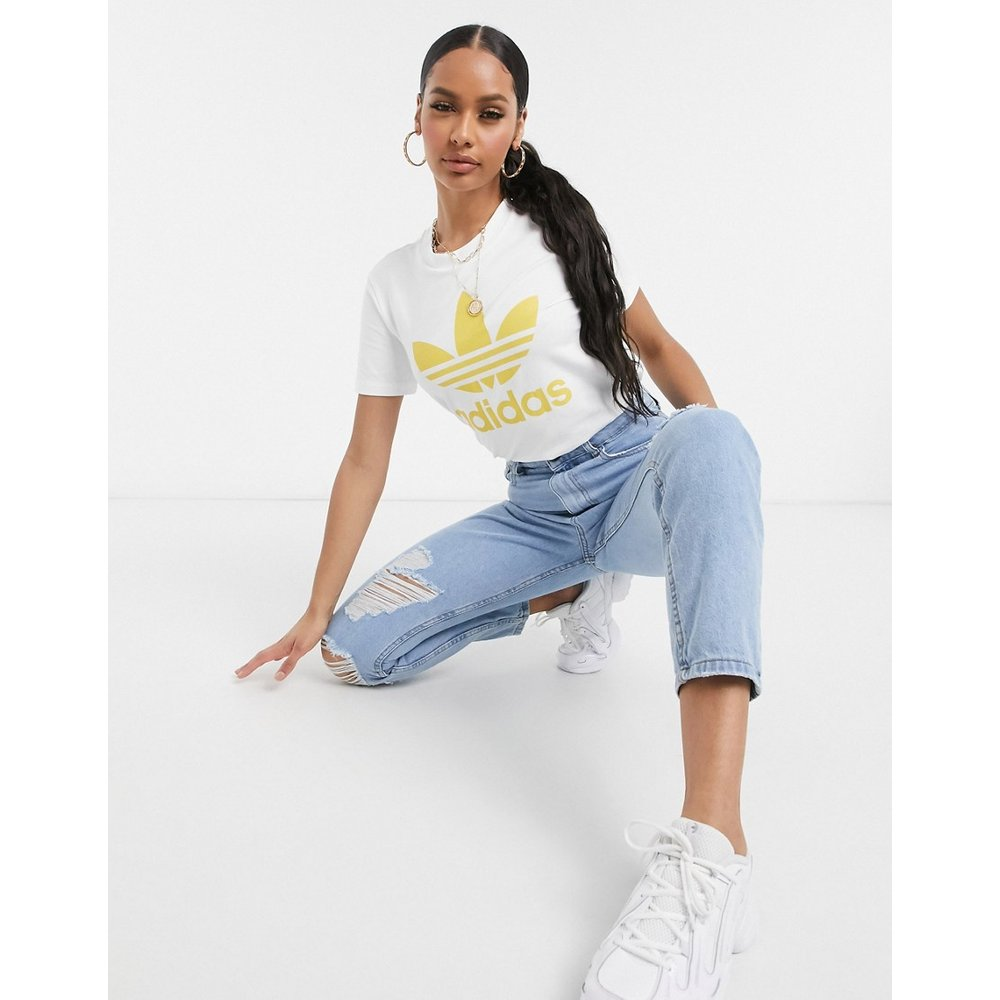 T-shirt imprimé trèfle - et jaune - adidas Originals - Modalova