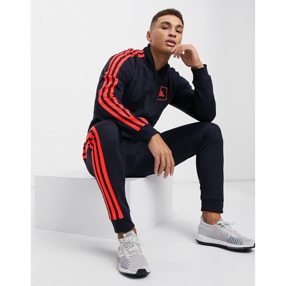 PIQU - Veste de survêtement à 3 rayures - Encre légendaire - Adidas - Modalova
