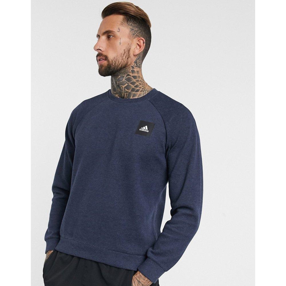 Adidas - Sweat-shirt à logo encadré - Bleu marine - adidas performance - Modalova