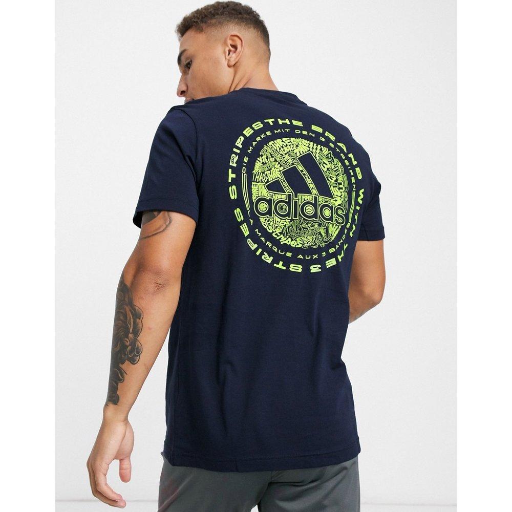 T-shirt avec emblème style griffonnage - Encre Legend - Adidas - Modalova