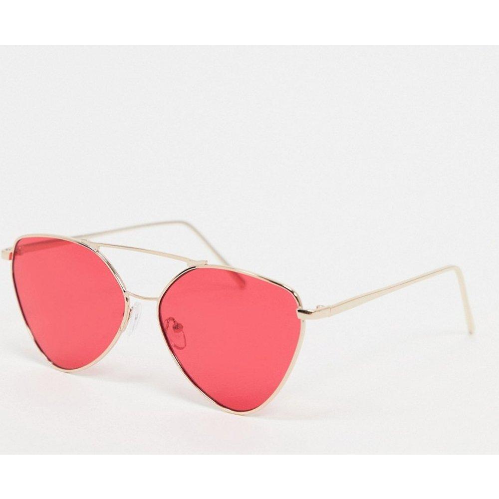 Lunettes de soleil à monture angulaire à verres rouges - Or - AJ Morgan - Modalova