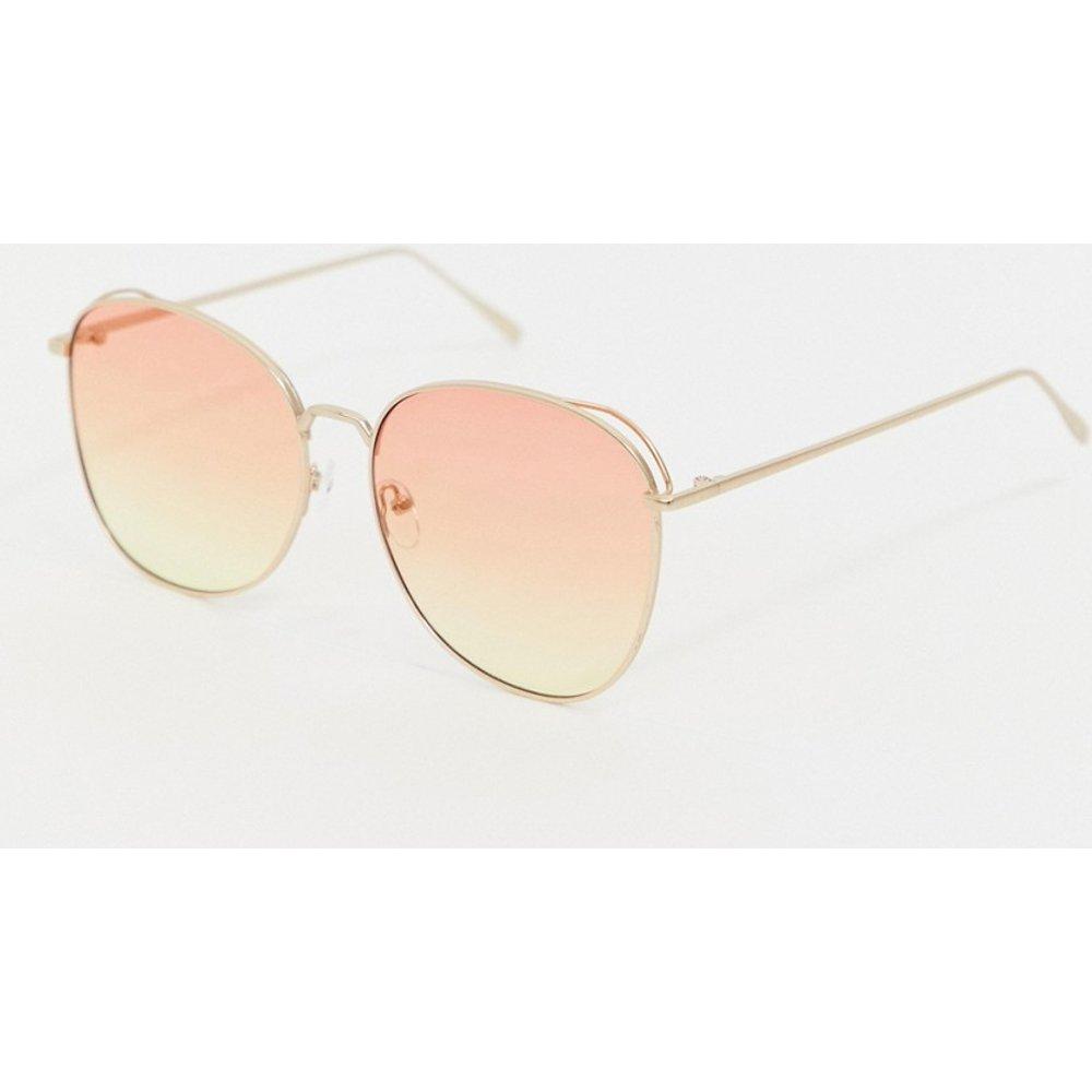 Lunettes de soleil aviateur à verres teintés - Rose dégradé - AJ Morgan - Modalova
