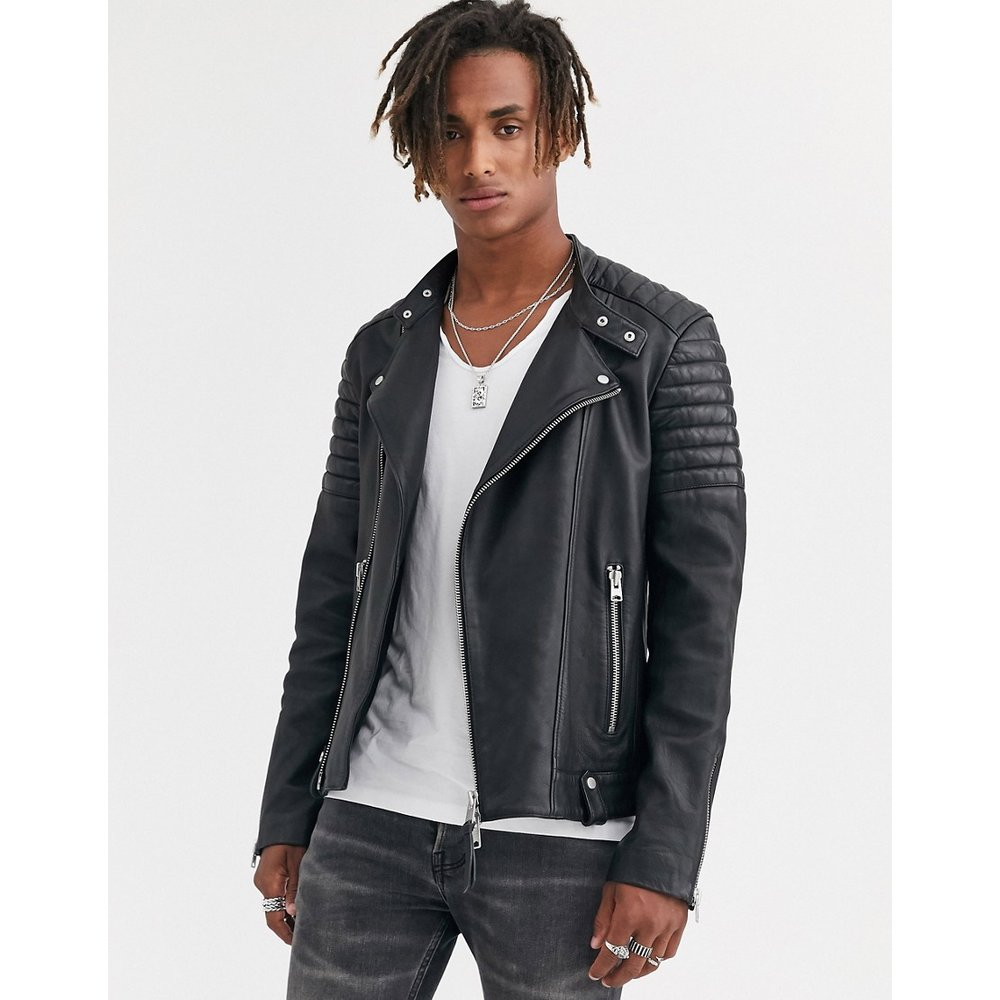 Jasper - Blouson de moto en cuir - AllSaints - Modalova