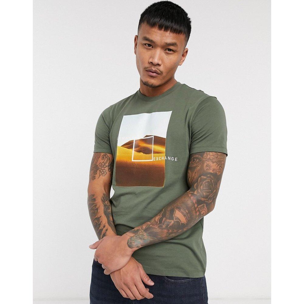 T-shirt imprimé désert - Kaki - Armani Exchange - Modalova