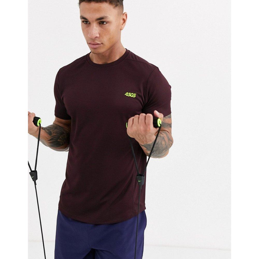 T-shirt de sport emblématique en tissu à séchage rapide - Bordeaux - ASOS 4505 - Modalova
