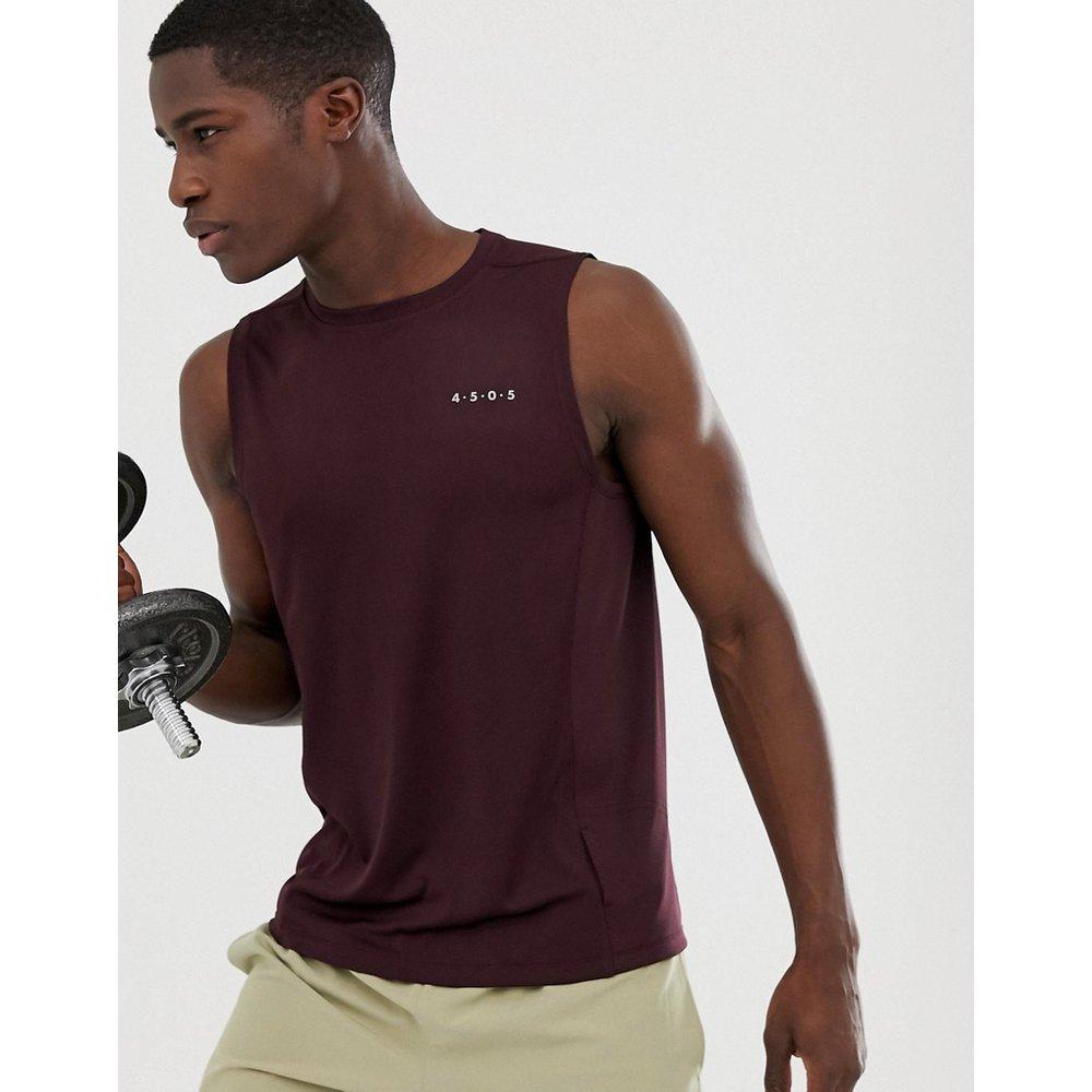 T-shirt d'entraînement sans manches en tissu à séchage rapide - Bordeaux - ASOS 4505 - Modalova