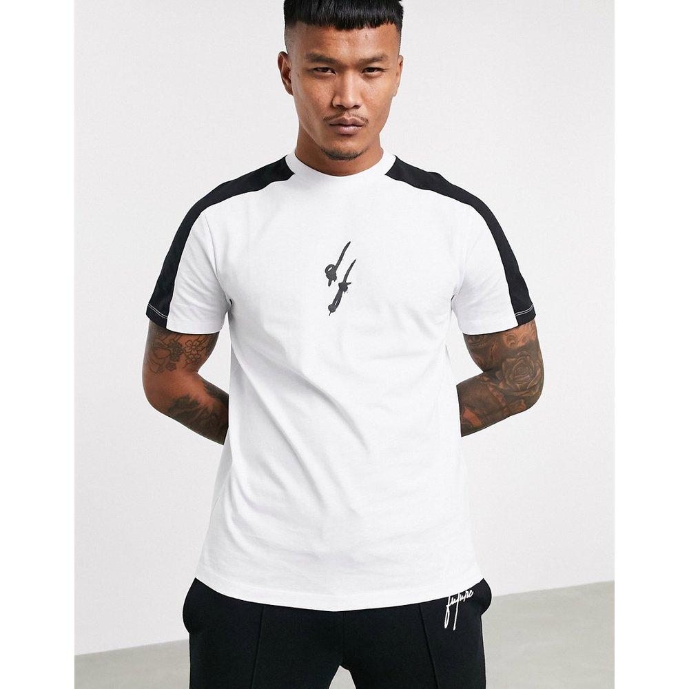 ASOS - Dark Future - T-shirt avec empiècements color block sur la manche et logo Dark Future à imprimé effet pulvérisé - ASOS Dark Future - Modalova
