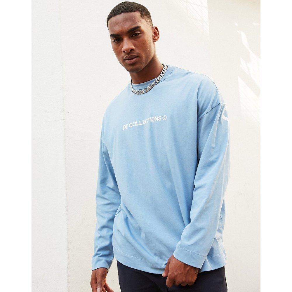 T-shirt long oversize à manches longues avec logo texte imprimé en jersey épais - ASOS Dark Future - Modalova