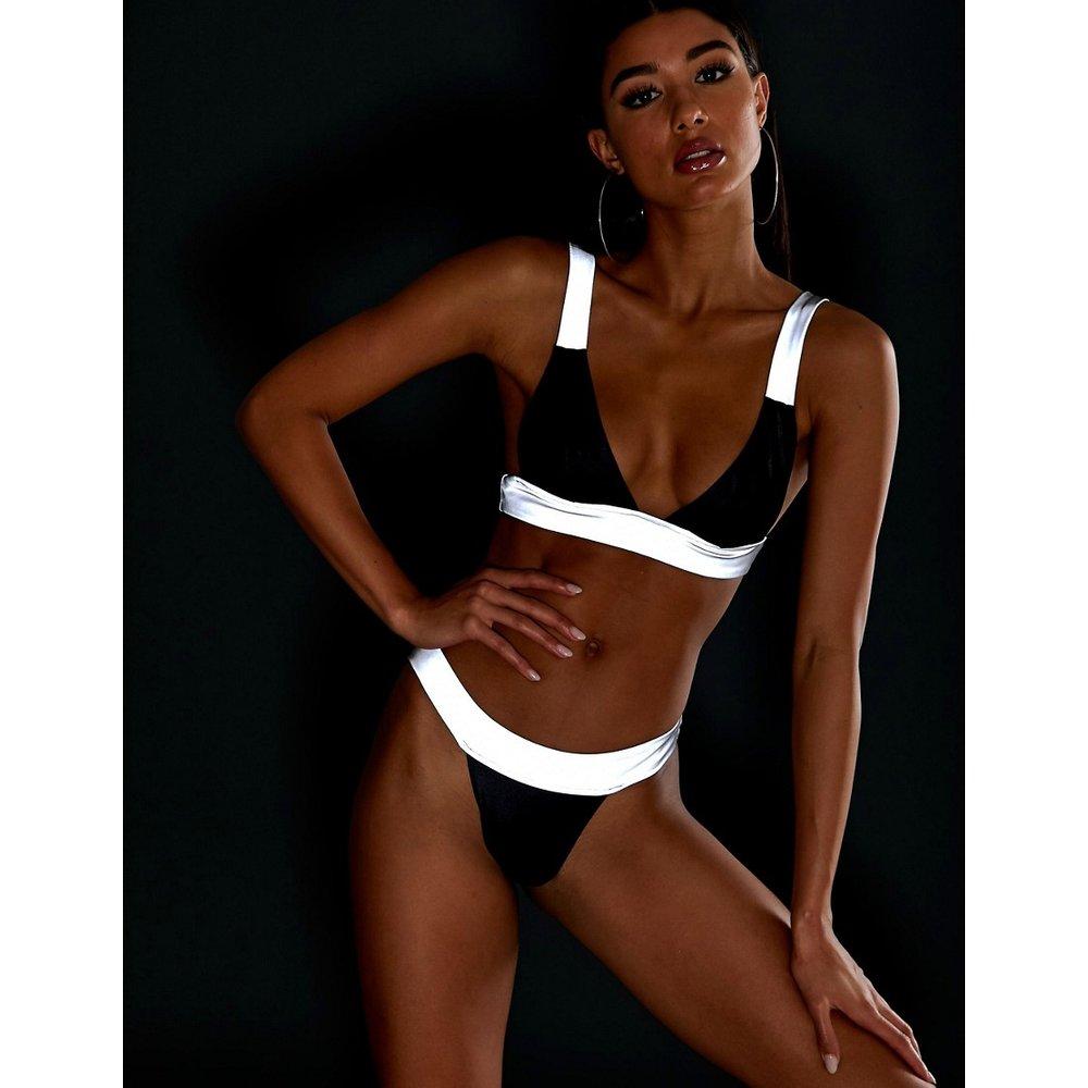 Bas de bikini tanga réfléchissant - brillant - ASOS DESIGN - Modalova
