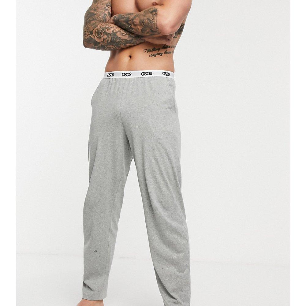 Bas de pyjama confort à taille griffée - chiné - ASOS DESIGN - Modalova