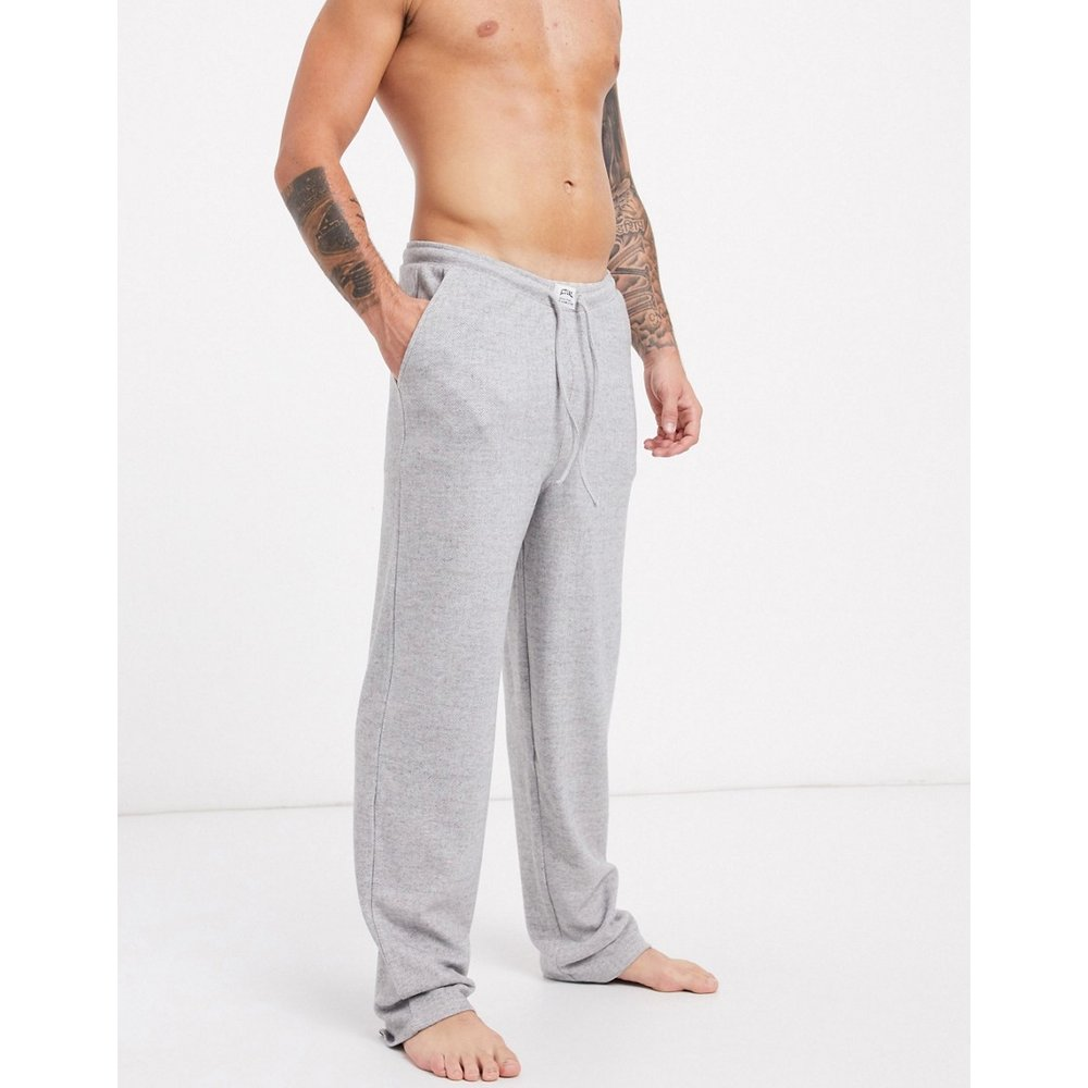 Bas de pyjama confort en coton brossé - ASOS DESIGN - Modalova