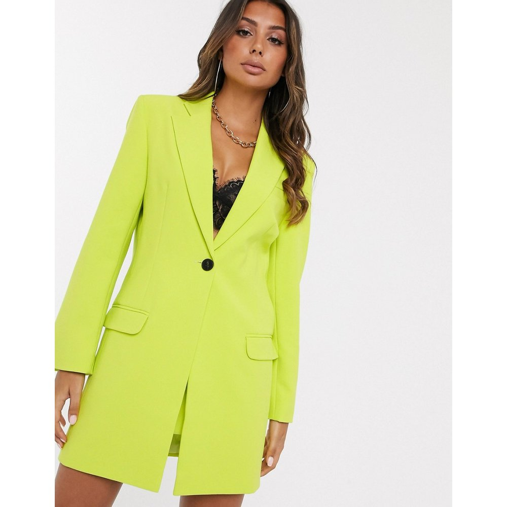 Blazer de costume long - Chartreuse - ASOS DESIGN - Modalova