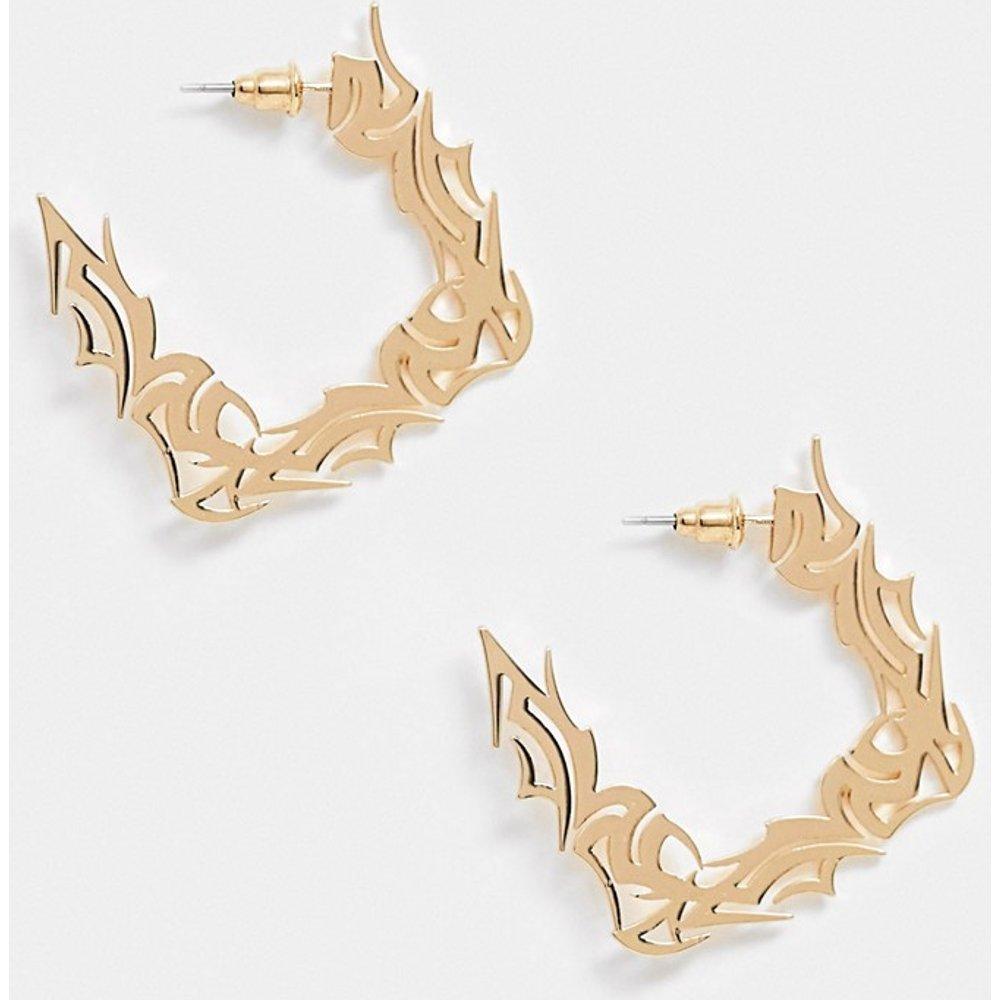 Boucles d'oreilles style créoles motif tatouage gothique - ASOS DESIGN - Modalova