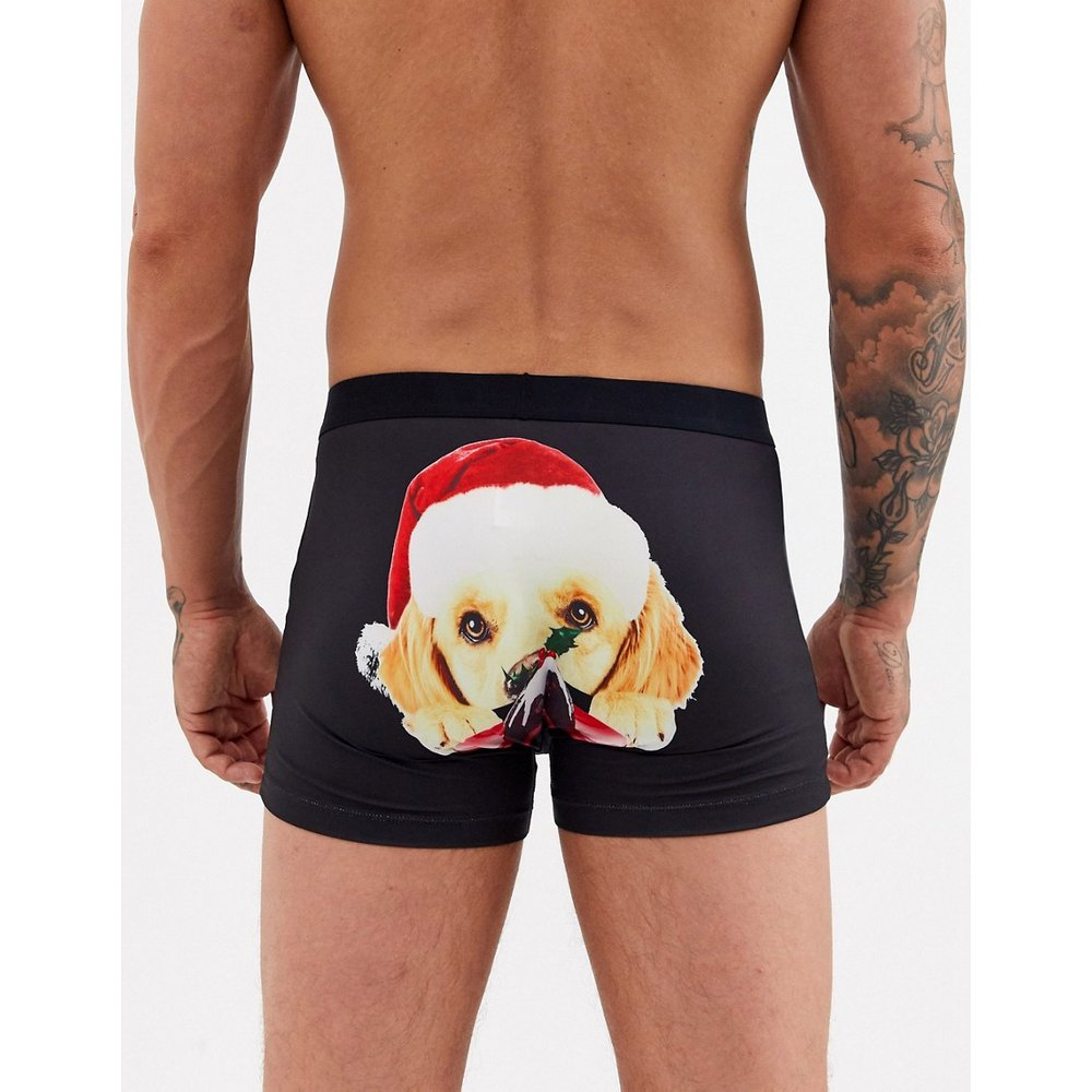 Boxer de Noël à imprimé chiens - ASOS DESIGN - Modalova