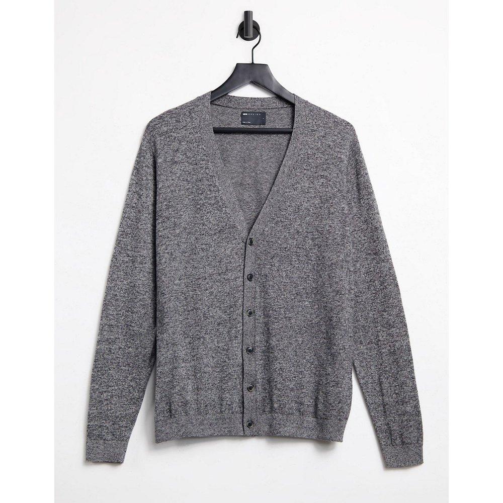 Cardigan en coton - Gris torsadé - ASOS DESIGN - Modalova