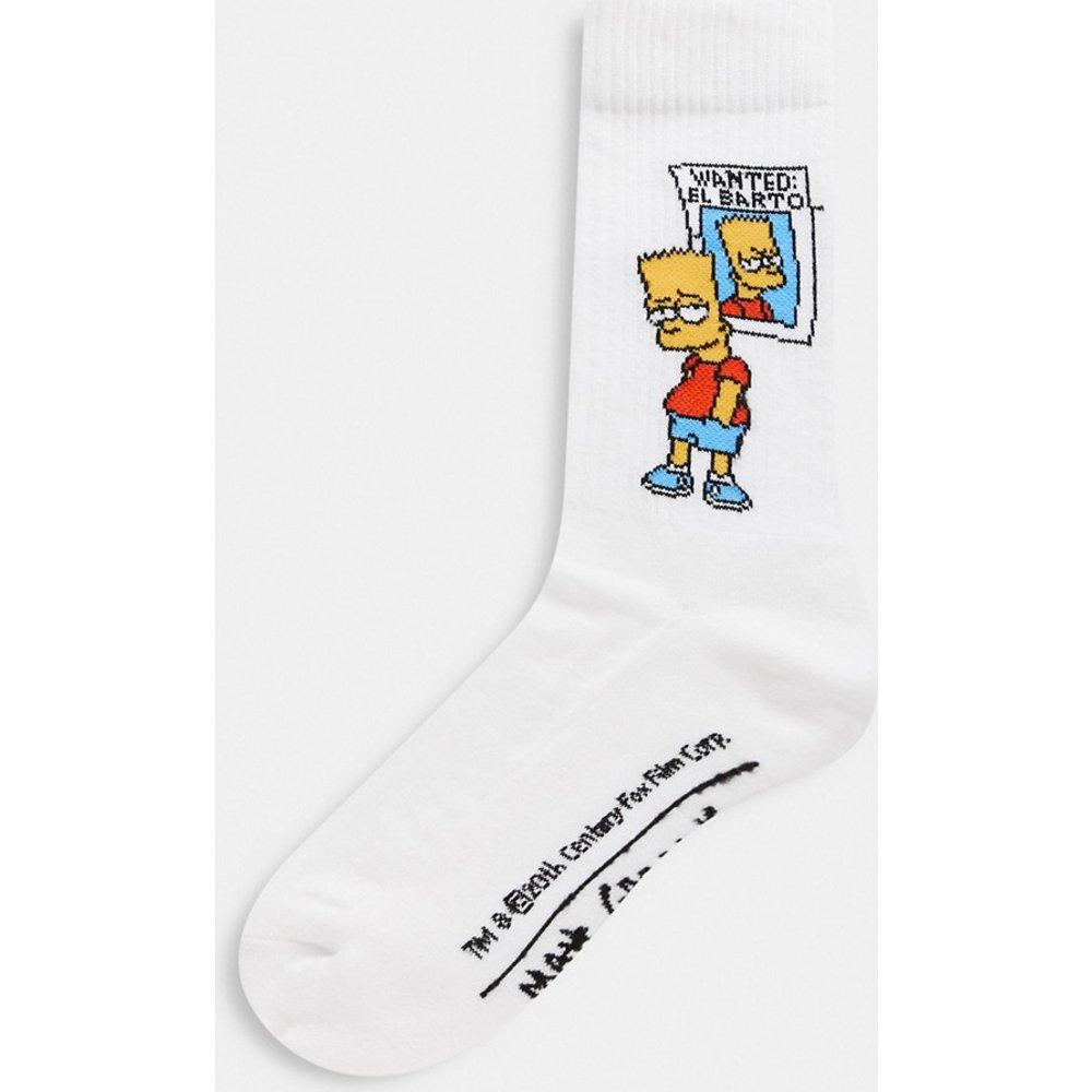 Chaussettes de sport avec motif affiche Bart Simpson Wanted - ASOS DESIGN - Modalova