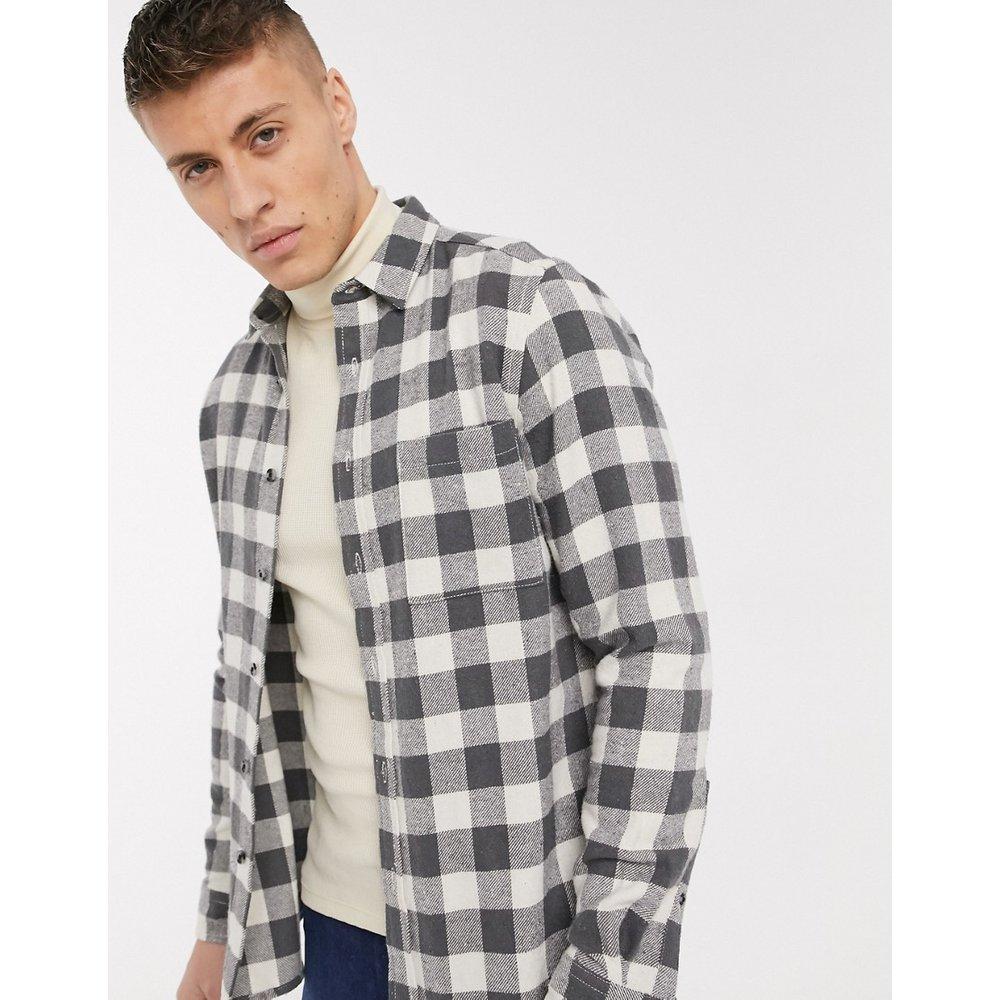Chemise à carreaux vichy coupe classique en flanelle - ASOS DESIGN - Modalova