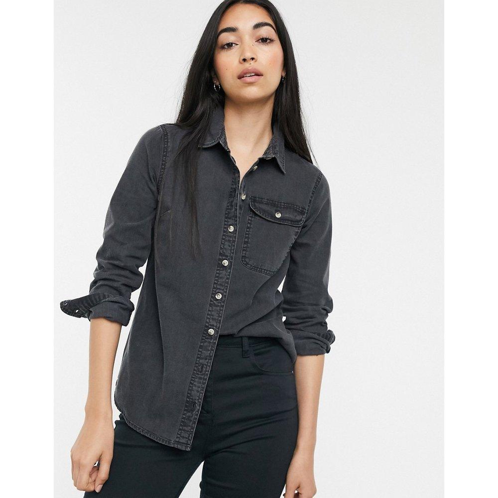Chemise en jean avec poche - délavé - ASOS DESIGN - Modalova