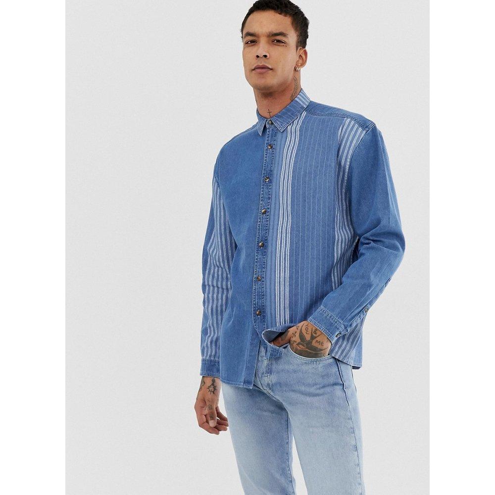 Chemise en jean vintage oversize à rayures - ASOS DESIGN - Modalova