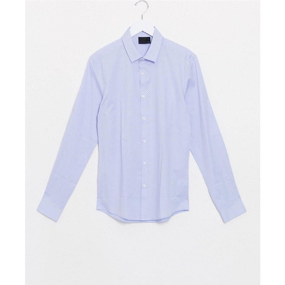 Chemise habillée coupe slim à pois et mini carreaux - ASOS DESIGN - Modalova