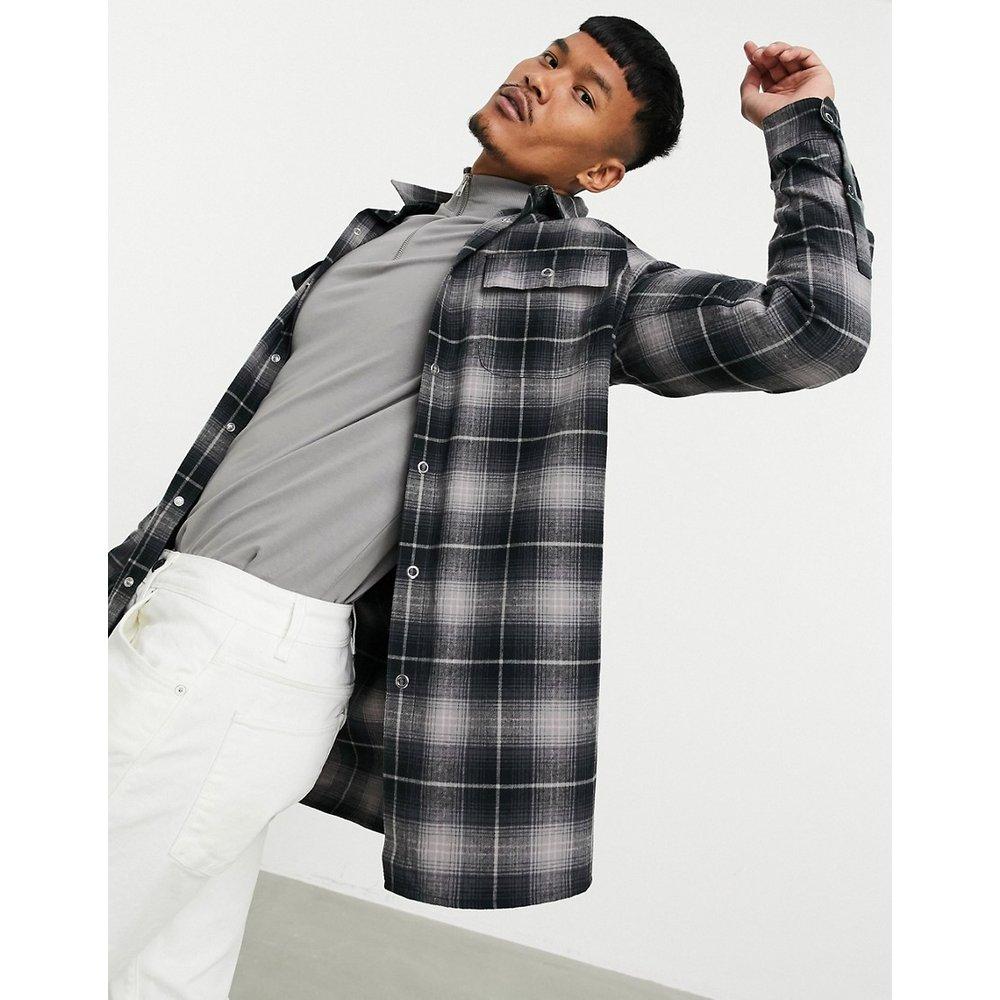 Chemise longue oversize à carreaux - ASOS DESIGN - Modalova