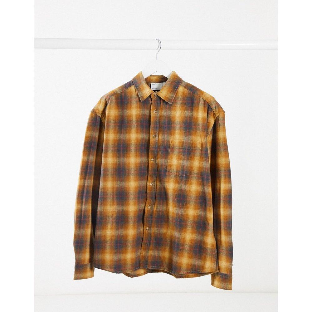 Chemise oversize style 90's à carreaux - Moutarde - ASOS DESIGN - Modalova