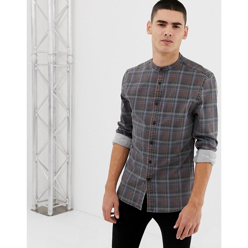 Chemise slim en jean à carreaux - ASOS DESIGN - Modalova