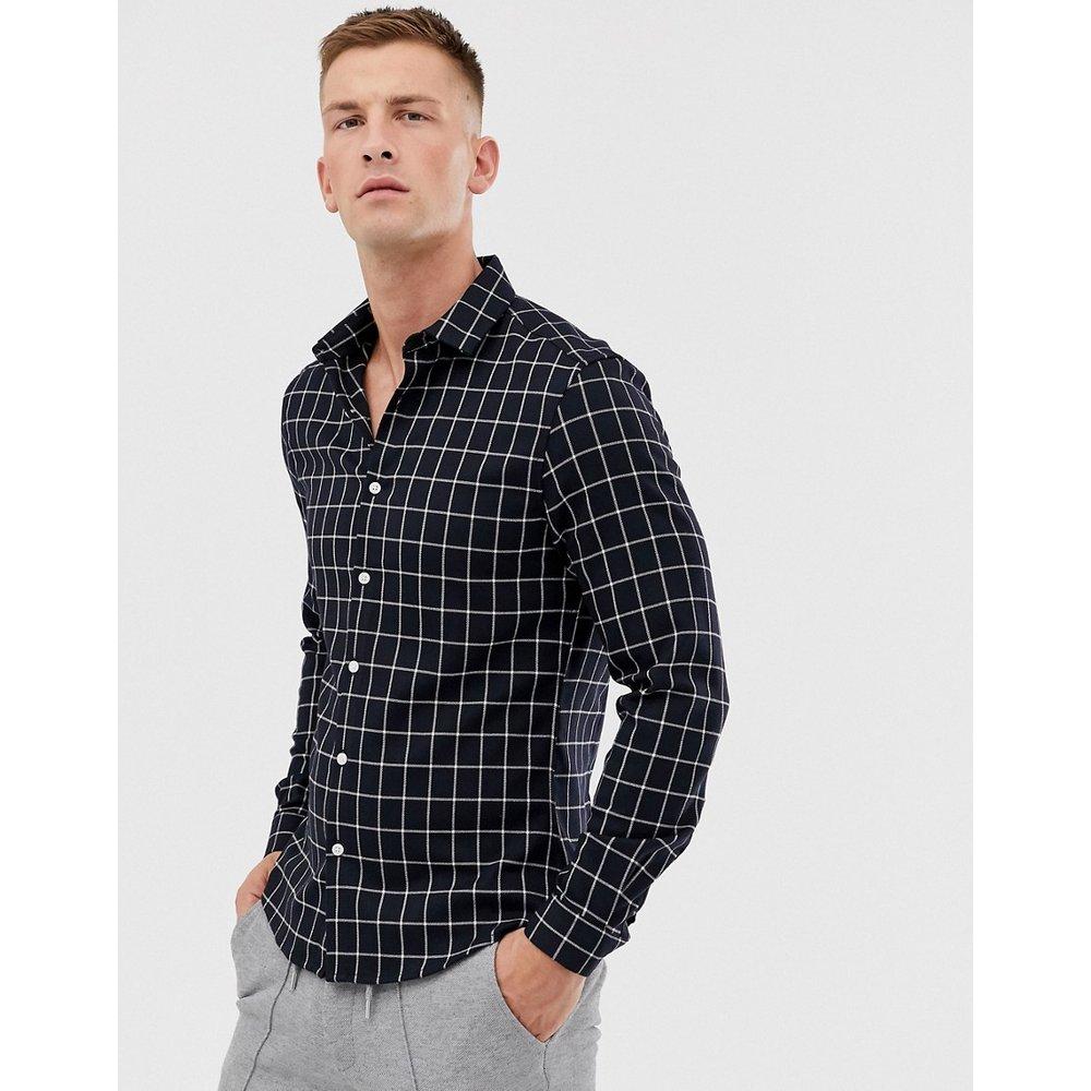 Chemise slim style workwear à carreaux - Noir - ASOS DESIGN - Modalova