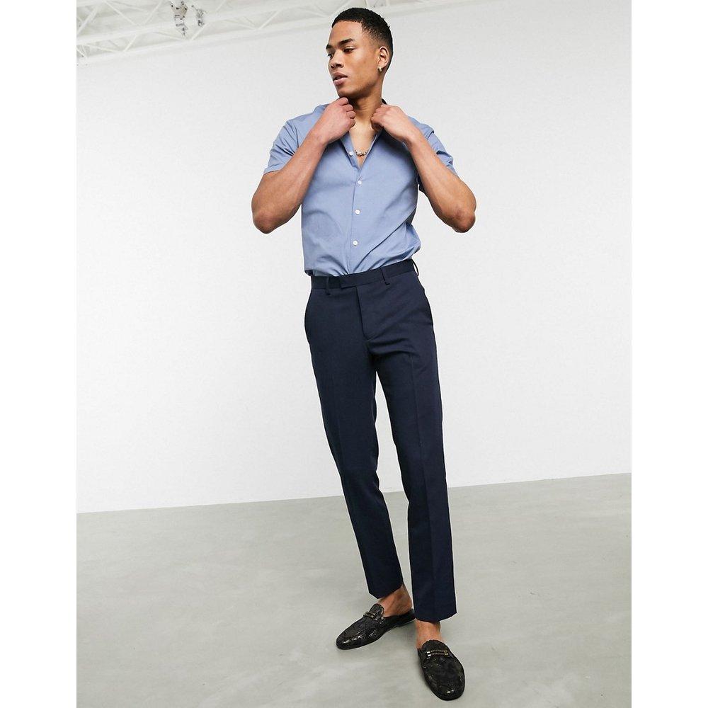 Chemise stretch coupe skinny à col grand-père et manches courtes - ASOS DESIGN - Modalova